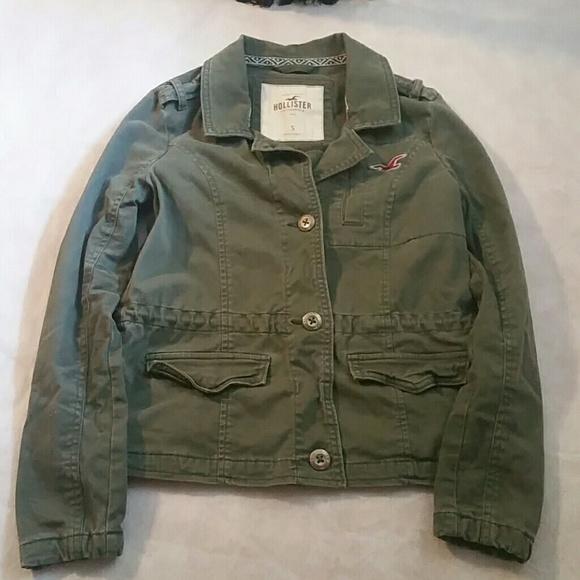 hollister military jacket